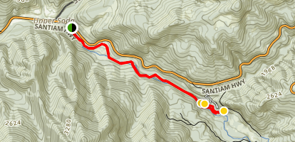 Santiam Wagon Road to House Rock Map
