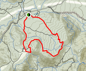 Sunset Trail to Brookbank Trail Loop Map