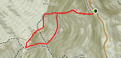 Mount Mansfield via Hellbrook Trail and the Long Trail  Map