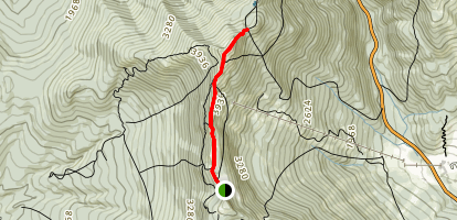 The Long Trail from The Nose to The Chin Map
