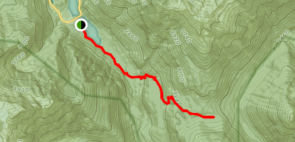 Fourth of July Pass via Panther Creek Trail Map