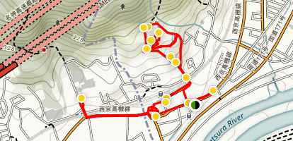 Kyoto Yamakazi Village Walking Tour Map