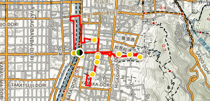 Gion District Walking Tour Map