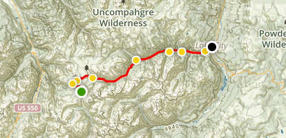 Engineer Pass Road Map