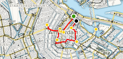 Art & History Walking Tour from Amsterdam Central Map