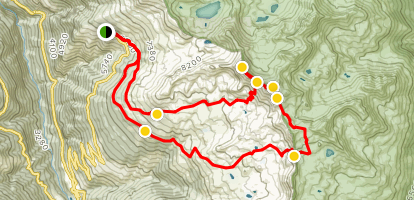 Bella Tolla, Rothorn, Meidpass Loop Trail Map