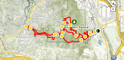 Apex Open Space Complete Loop Trail Map