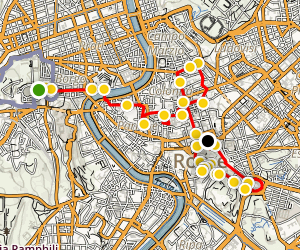 Rome Walking Tour Map