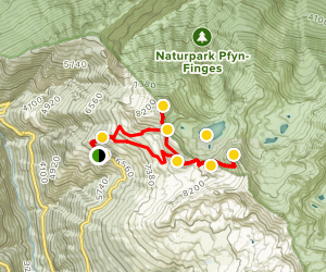 Illhorn and Schwarzhorn Trail Map