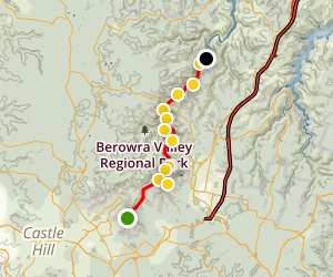 Great North Walk: Crosslands to Jungo Rest Area Map