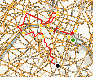 Paris' Iconic Sites and Hidden Gems Map