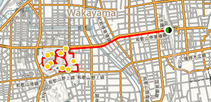 Wakayama Castle Walking Tour Map