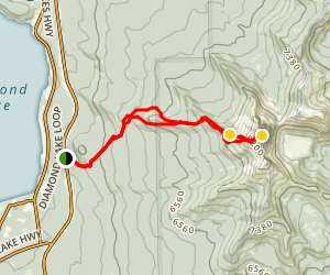 Mount Thielsen Trail Map