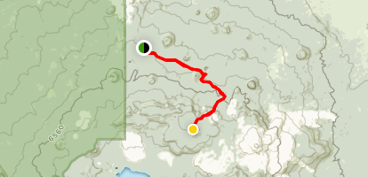 Medicine Lake Volcano, Mount Hoffman - Standard Summit Route Map