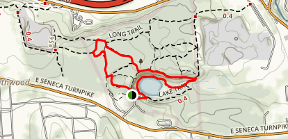 Milfred Forest, Cliff Trail, and Lake Trail Loop Map