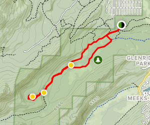 General Creek Trail to Lily Pond  Map