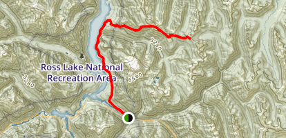 East Bank Trail to Devil's Dome and Devil's Pass Map