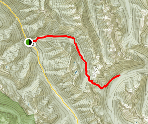 East Creek Trail to Mabee Pass and Horse Heaven Camp Map
