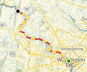C & O Canal Towpath Trail Map