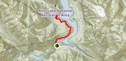 Ross Dam Trail Map