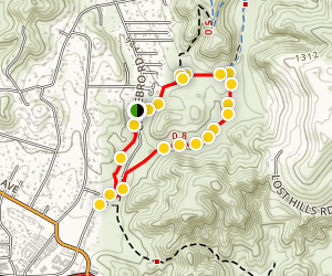 Lower Cheeseboro Canyon Loop Map