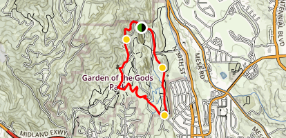 Garden of the Gods Loop Trail Map