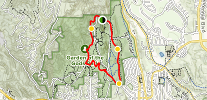 garden of the gods loop trail map - Garden Of The Gods Map