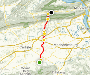 Appalachian Trail - Boiling Springs to Rt 850 Map