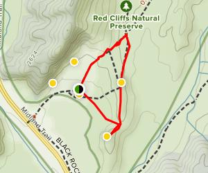 Red Cliffs Trail Map