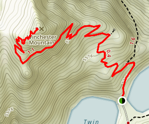 Winchester Mountain Trail Map