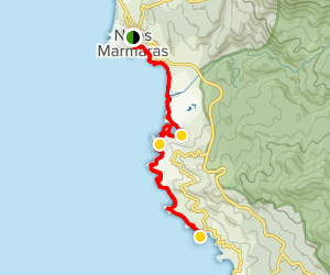 Forbidden Beaches of Neos Marmaras Map