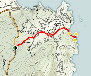 Kriaritsi Beach Trail Map