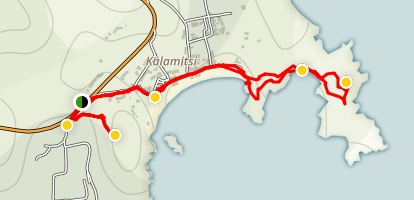 Kalamitsi Beach Trail Map