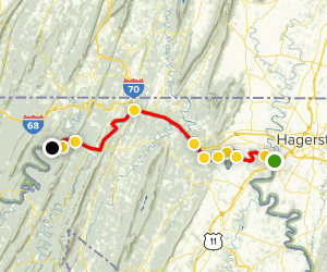 C & O Canal Towpath Trail, Section #3 Map