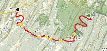 C & O Canal Towpath Trail, Section #4 Map