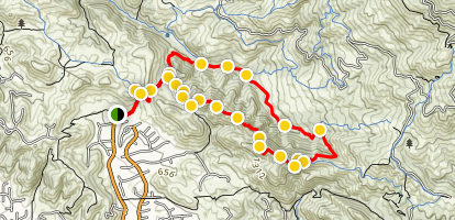 Secret Valley Loop Map