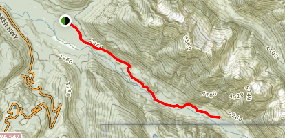 Nooksack Cirque Trail Map