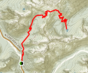 Cutthroat Lake via the PCT Map