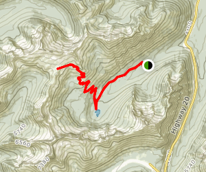 Cutthroat Lake and Cutthroat Pass Map