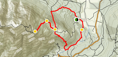 Wetterstein Alps under Hohe Munde Peak Trail Map