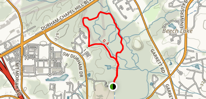 New Hope Bottomlands Trail Map