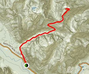 Mount Forgotten Meadows Trail Map