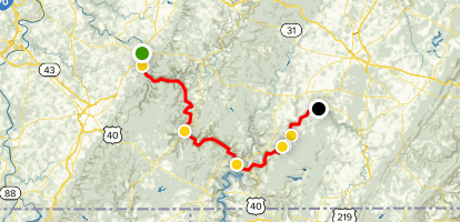 Great Allegheny Passage: Connellsville to Rockwood  Map
