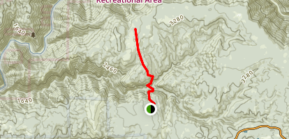 Otter Creek Trail to Volcanoville Map
