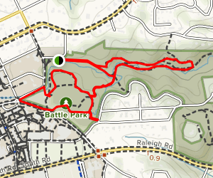 Battle Park Hike Map