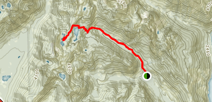 Rachel and Rampart Lakes Trail Map