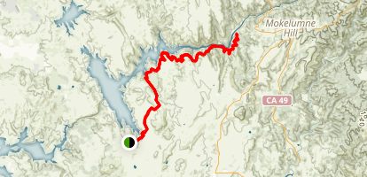 The Mokelumne River Trail to Middle Bar Map