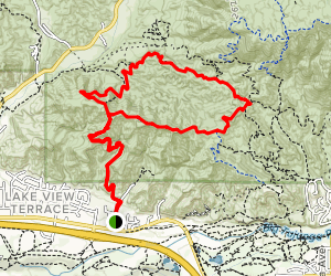 Lake View Terrace and Doc Larsen Trail Map