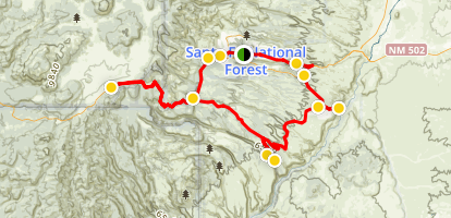 Scenic Overlooks in Los Alamos Area Map