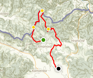 Litmanova Village to Jarabina Village Trail Map